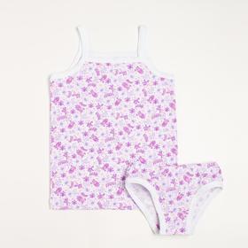 Комплект (майка, трусы) для девочки, цвет розовый, рост 86-92 см