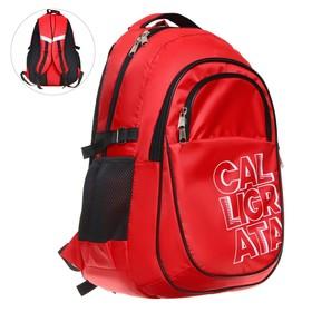 Рюкзак молодежный эргоном. мягкая спинка Calligrata 47х32х16 см, красный