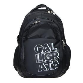 Рюкзак молодежный эргоном. мягкая спинка Calligrata 47х32х16 см,чёрный