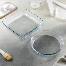Набор посуды для запекания Borcam, 2 предмета: 3,2 л (28×28×6 см), 1,95 л (22×25,6 см)