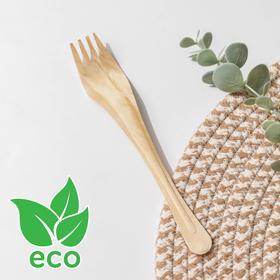 Вилка деревянная одноразовая, 18 см, эко, берёза