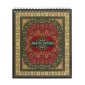 """Скетчпад А5, 30 листов на гребне """"Востчный ковёр"""", обложка мелованный картон, УФ-лак, блок 180 г/м2"""