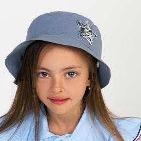Панамка для девочки, цвет серый, размер 46-48