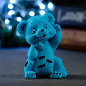 """Мыло фигурное """"Тигрёнок Лео"""" синее, 60гр"""