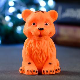 """Мыло фигурное """"Тигрёнок сидит"""" оранжевое, 65гр"""