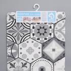 Набор ковриков для ванны и туалета Доляна «Мистери», 2 шт: 45×75, 45×120 см, цвет серый - фото 851988