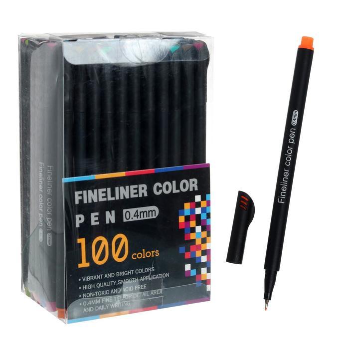 Набор маркеров профессиональных 100 цветов 0,4мм - фото 852316