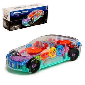 Машина «Шестерёнки», световые и звуковые эффекты, работает от батареек