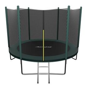 Батут ONLITOP, d=305 см, с лестницей, с сеткой высотой 173 см, цвет зелёный