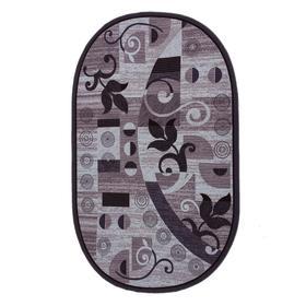 Ковер овальный НОКТЮРН 200х300 см, серый 91/19, войлок 195г/м2, ПА 100%