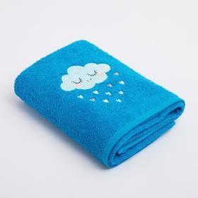 Полотенце Экономь и Я «Облачко мальчик» 50*90 см, цв.голубой, 100% хлопок, 360 гр/м2