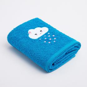 Полотенце Экономь и Я «Облачко девочка» 50*90 см, цв.голубой, 100% хлопок, 360 гр/м2