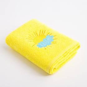 Полотенце Экономь и Я «Солнышко» 50*90 см, цв.желтый, 100% хлопок, 360 гр/м2