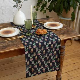 Дорожка на стол Этель Succulents 40х149см, 100% хл, саржа 190 г/м2