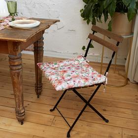 Сидушка на стул Этель Flowers 42х42см, 100% хл, 190 г/м2