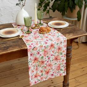 Дорожка на стол Этель Flowers 40х149см, 100% хл, саржа 190 г/м2