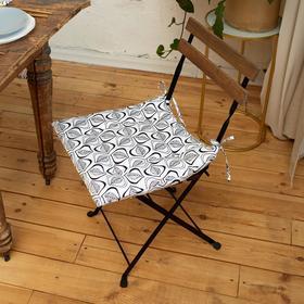 Сидушка на стул Этель Leaves 42х42см, 100% хл, 190 г/м2