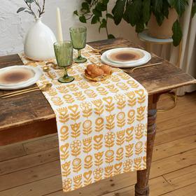 Дорожка на стол Этель Yellow garden 40х149см, 100% хл, саржа 190 г/м2