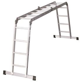Лестница-трансформер PERILLA by Dogrular 605750, алюминиевая, 4х4, 450 см, до 150 кг
