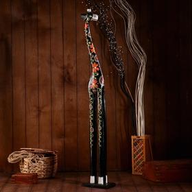 """Сувенир """"Жираф"""" дерево 120х20х12 см"""
