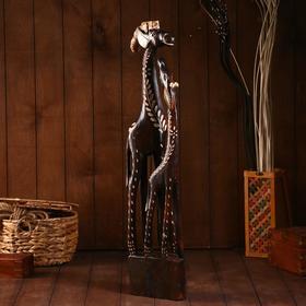 """Сувенир """"Пара жирафов"""" дерево 80х20х11см"""