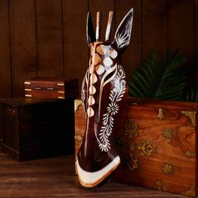 """Маска """"Жираф"""" дерево 50х15х7 см"""