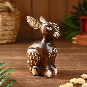 """Сувенир """"Кролик"""" резной, дерево 10х7х15 см"""
