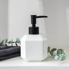 Дозатор для жидкого мыла Доляна «Артемида», 350 мл, цвет белый