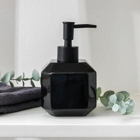 Дозатор для жидкого мыла Доляна «Артемида», 350 мл, цвет чёрный