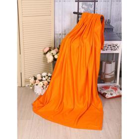 Плед 100х150 см, оранжевый