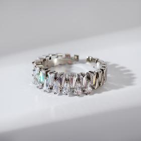 """Кольцо """"Богатство"""" диадема, цвет белый в серебре, безразмерное"""
