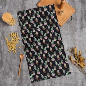 Полотенце Этель Succulents 40х73см, 100% хл, саржа 190 г/м2