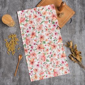 Полотенце Этель Flowers 40х73см, 100% хл, саржа 190 г/м2