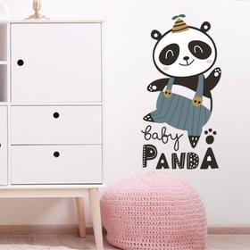 "Наклейка пластик интерьерная цветная ""Танцующая панда"" 30х60 см"