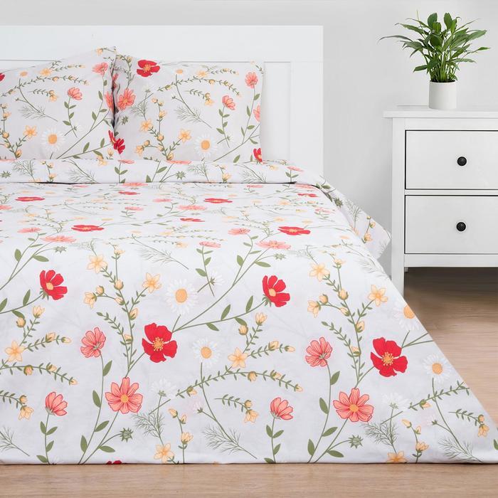 Постельное белье Этель Flower field 1.5 сп 143*215 см, 150*214 см, 70*70 см - 2 шт - фото 854491