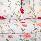 Постельное белье Этель Flower field 1.5 сп 143*215 см, 150*214 см, 70*70 см - 2 шт - фото 854492