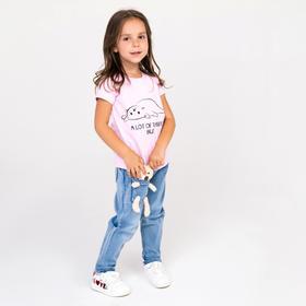 Джинсы для девочки, цвет голубой, рост 104 см