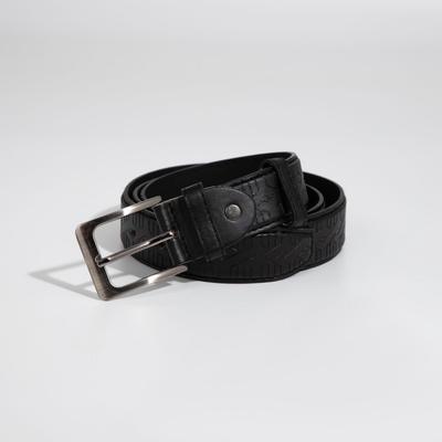Ремень мужской, ширина 3,2 см, винт, пряжка металл, цвет чёрный