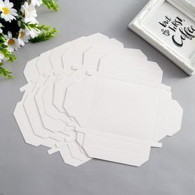 Набор картонных заготовок фоторамок, 6 шт, 15х15, 15х11 см, белый