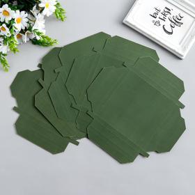 Набор картонных заготовок фоторамок, 6 шт, 15х15, 15х11 см, зелёный