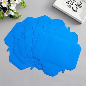 Набор картонных заготовок фоторамок, 6 шт, 15х15, 15х11 см, голубой