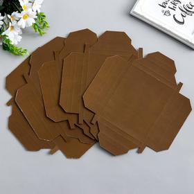 Набор картонных заготовок фоторамок, 6 шт, 15х15, 15х11 см, коричневый