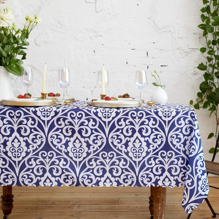 Скатерть Доляна Vintage patterns 150*300 +/- 2 см, 100% п/э