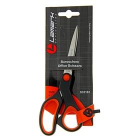 Ножницы Lamark 16.5 см, эргономичные пластиковые ручки с мягкими вставками