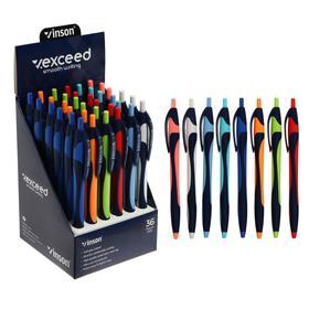 Ручка шариковая автоматическая 0,7мм синяя масляная,Vinson корпус МИКС (штрихкод на штуке)    686176