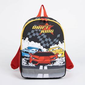 Рюкзак детский, 2 отдела на молниях, 2 боковых кармана, цвет чёрный