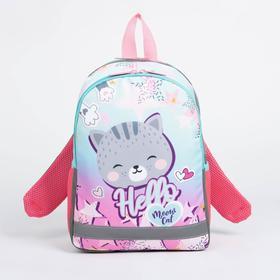 Рюкзак детский, 2 отдела на молниях, 2 боковых кармана, цвет розовый