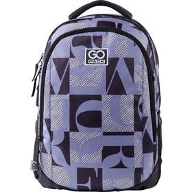 Рюкзак молодежный, GoPack 133, 43x30x16 см, эргономичная спинка, Black and white