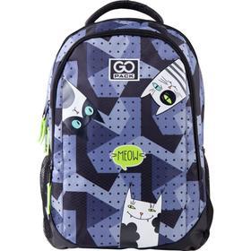 Рюкзак молодежный, GoPack 133, 43x30x16 см, эргономичная спинка, Meow