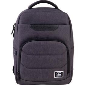 Рюкзак молодежный, GoPack 144, 41x29x12 см, эргономичная спинка, серый